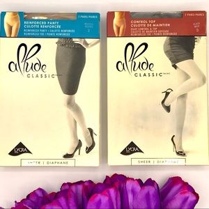 Lycra allude 2 pairs of classic stocking